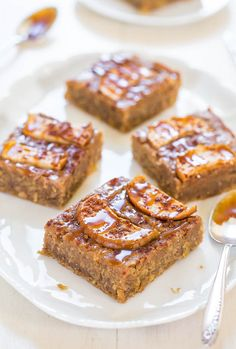 Caramel Apple Cinnamon Bars from @averie