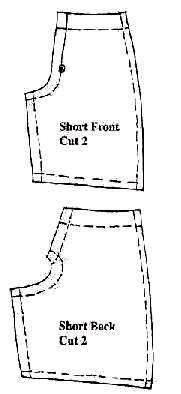 Как сшить шортики для куклы 537