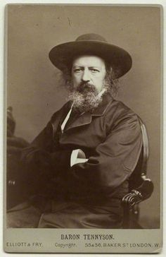 English poet Alfred, Lord Tennyson (August 6, 1809 - 1892) - Poet Laureate of the United Kingdom for much of the Victorian era…