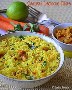 Spicy Treats: Carrot Lemon Rice