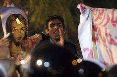 Christian protestors in Egypt.