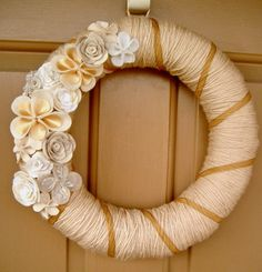 Another Yarn Wreath, I really like the flowers on this one.