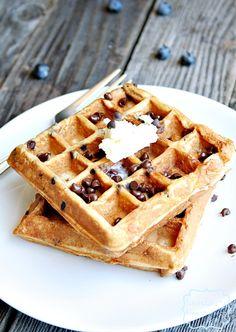 S'more waffles made with @Stonyfield Organic Organic Greek Yogurt
