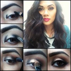 Gold Smokey Eye Makeup Tutorial by Alana Dawn; Lady Art     Weddings! ummmm perfection!