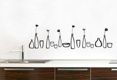 wall art, kitchens, kitchen vinyl, idag, kitchen backsplash, wall decals