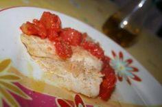 Filetti di merluzzo con pomodoro e cipolla