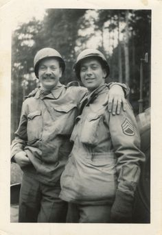 Two brothers randomly meet during World War II. Neither knew if the other was still alive. I wonder if they both survived the war??