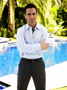 Nestor Carbonell.  Save some eyelashes for the rest of us, Nestor.