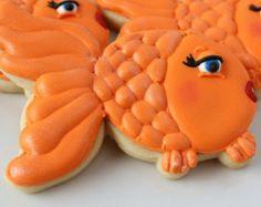 girly cookies, orang, goldfish cooki, favor anim, cookie girly, anim cooki, parti cooki, cooki favor, decor cooki