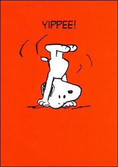 Snoopy knows how to have fun.
