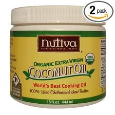 Organic Extra Virgin Coconut Oil.  I use this to cook/bake with.  Also use is on my body, in my hair.. makes a great diaper rash cream.  The uses are endless.  SO many healthy benefits to incorporating coconut oil into your daily regime.  Just google it!
