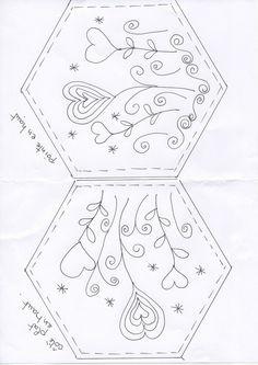 hexagones brodés