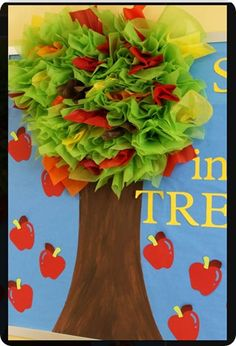 Classroom door decorations on pinterest classroom for Apple tree classroom decoration