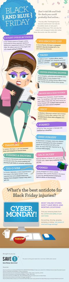 Black Friday Infographic | Save1.com  #blackfriday #cybermonday