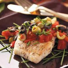 Mediterranean-Style Red Snapper... I made this last night for dinner delicious and healthy too.