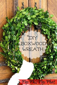 Easy DIY Boxwood Wreath