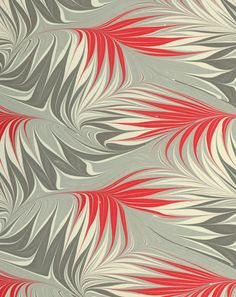 Modern 20th c. marbled paper, Whirl pattern?