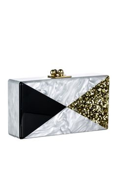 """Edie Parker, """"Pearl Pearlescent Triangles Jean Clutch."""""""