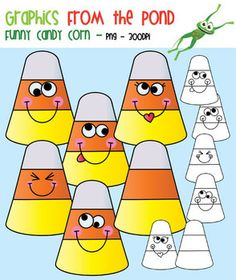 Funny Candy Corn - Clipart for Teachers and Classrooms