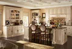 Country style kitchen with cabinet