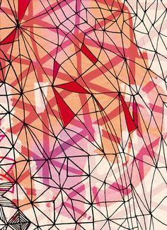 geometric love no2 art print by lovelysweetwilliam on Etsy, $20.00
