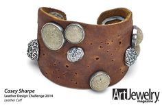 Leather cuff by Casey Sharpe - Art Jewelry Magazine - Jewelry Projects and Videos on Metalsmithing, Wirework, Metal Clay