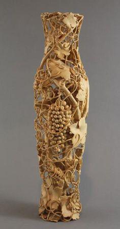 Grapevine Vase by Nairi Safaryan, boxwood