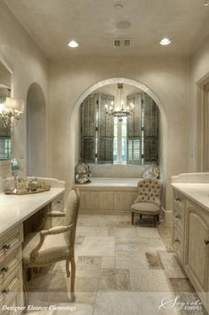 <3 Chandelier over the bath