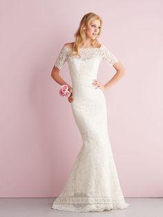 Elegant Off-the-shoulder Short Sleeves Mermaid Lace Wedding Dresses - LightIndreaming.com