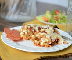 pepperoni pizza lasagna roll ups