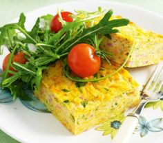 Healthy Carrot and Zucchini Slice