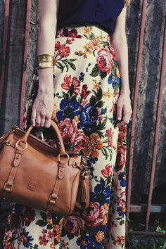Vintage floral wonderfully accessorized with Florentine Dooney