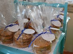 Cookie favors at a baby shower #babyshower #cookies