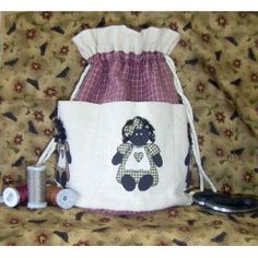 Golliwog Golly Girl Button Bag Sewing Craft Pattern