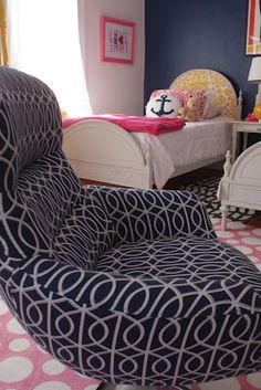 NAVY AND PINK TEEN GIRL ROOM | My Old Country House