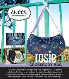 Rosie Crossbody Bag - PDF Pattern by Swoon #sewing