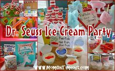 ice cream party, seuss fun, food crafts, parties, seuss ice, parti idea, kid, dr seuss, cream parti