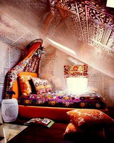 Indian inspired teen bedroom by Maine Design.