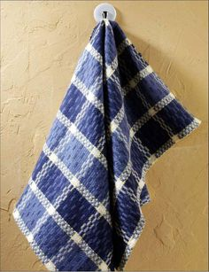 """Linked Birdseye Towels Weave either two or four generous size kitchen towels (20"""" x 30"""") with our versatile 8/2 Aurora Earth yarns using any 4-shaft, 10 dent reed and 23"""" wide table or floor loom."""