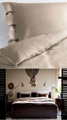 Linen bedding, LINBLOMMA duvet set