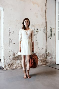 fashion, maison scotch, the dress, sandal, vintage luggage
