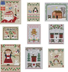 2010 Christmas Cross Stitch Collection by Theflossbox on Etsy, $25.00