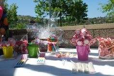 candy table, dessert table, candy party table, first birthday, 1st birthday party, girl birthday party, candy party decor