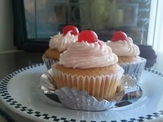 Vanilla Cherry Cola Cupcakes with Cherry Vanilla Buttercream Frosting