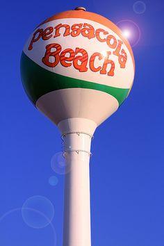 """Pensacola Beach """"Beach Ball"""" Water Tower by Bonnie Woodson, via Flickr"""
