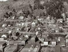 "Circa 1890. ""Altitude. Part of Deadwood, South Dakota, as seen from big flume."""