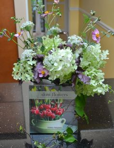 Floral Friday: Anemones, Hydrangeas, and a Giveaway! http://juliesgardendelights.com/floral-friday-anemones-hydrangeas-and-a-giveaway/
