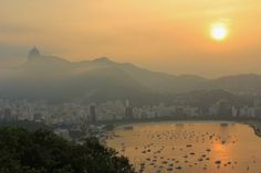 Rio de Janeiro and Sugarloaf Mountain at sunset