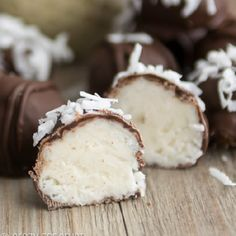 A truffle made with three kinds of coconut flavor!