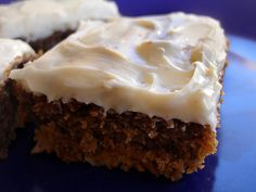 gingerbread bars w. cream cheese frosting